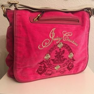 Juicy Couture Hot pink messenger bag